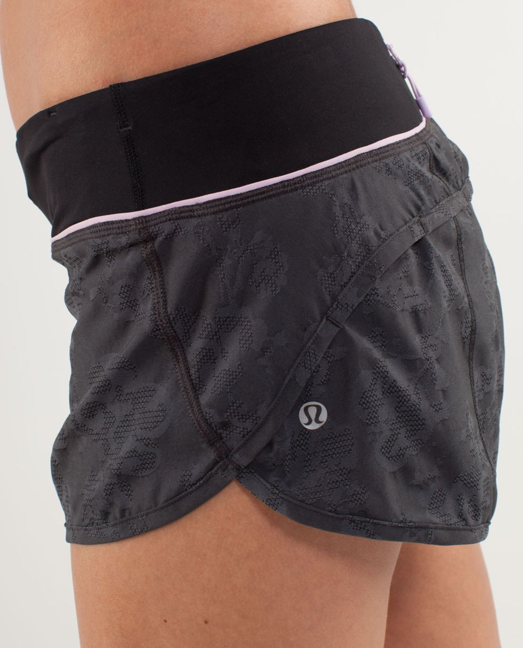Lululemon Run:  Speed Short - Black / Rose Quartz