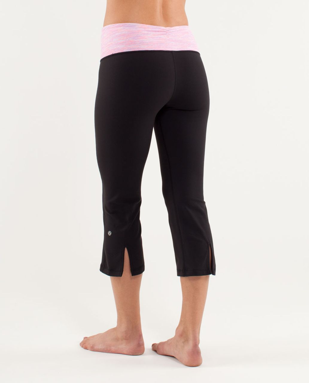 Lululemon Gather & Crow Crop - Black /  Wee Are From Space White April Multi /  Flash