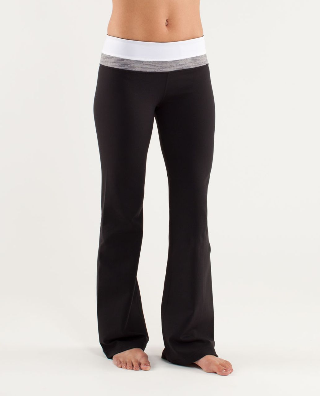 Lululemon Groove Pant (Regular) - Black /  White /  Wee Are From Space Coal Fossil