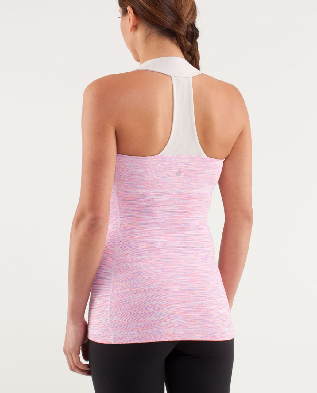 Lululemon Scoop Neck Tank - Wee Are From Space White April Multi /  Heathered Dune