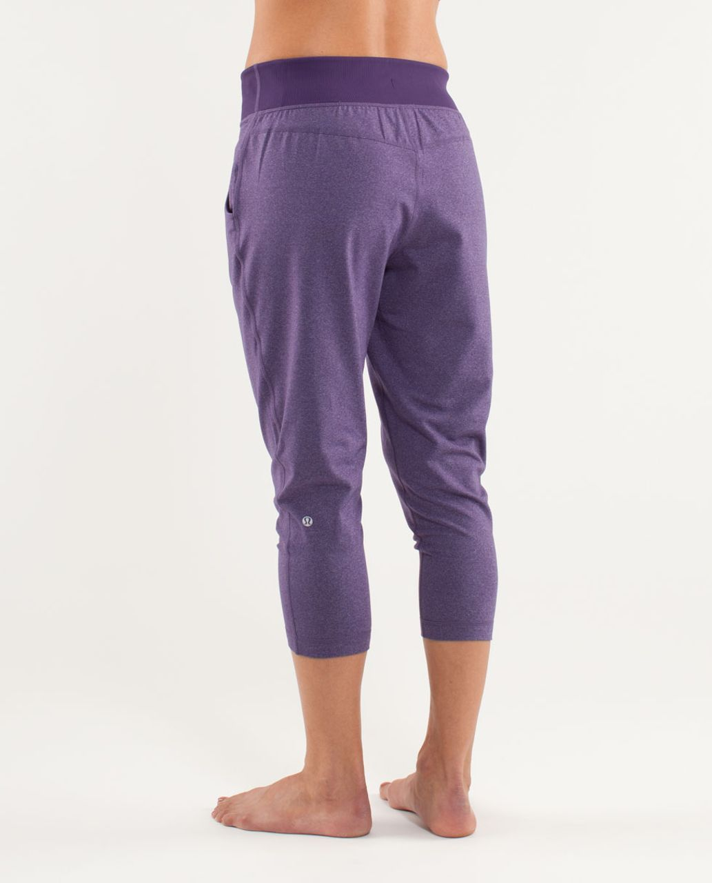 d385fd636f Lululemon Free Fall Crop - Heathered Concord Grape / Concord Grape - lulu  fanatics
