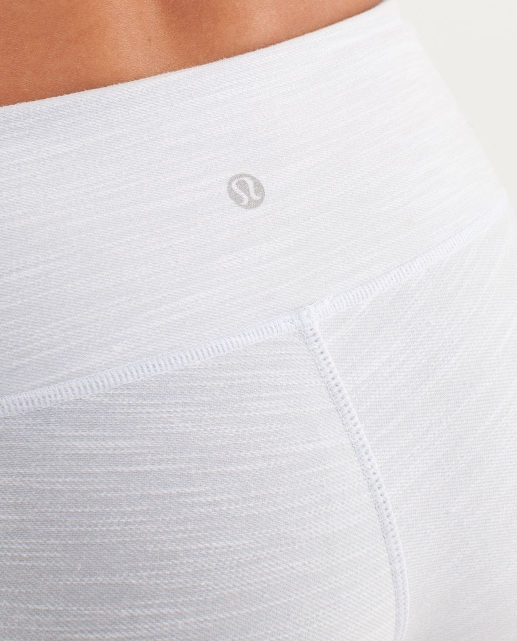 Lululemon Wunder Under Crop *Denim - White