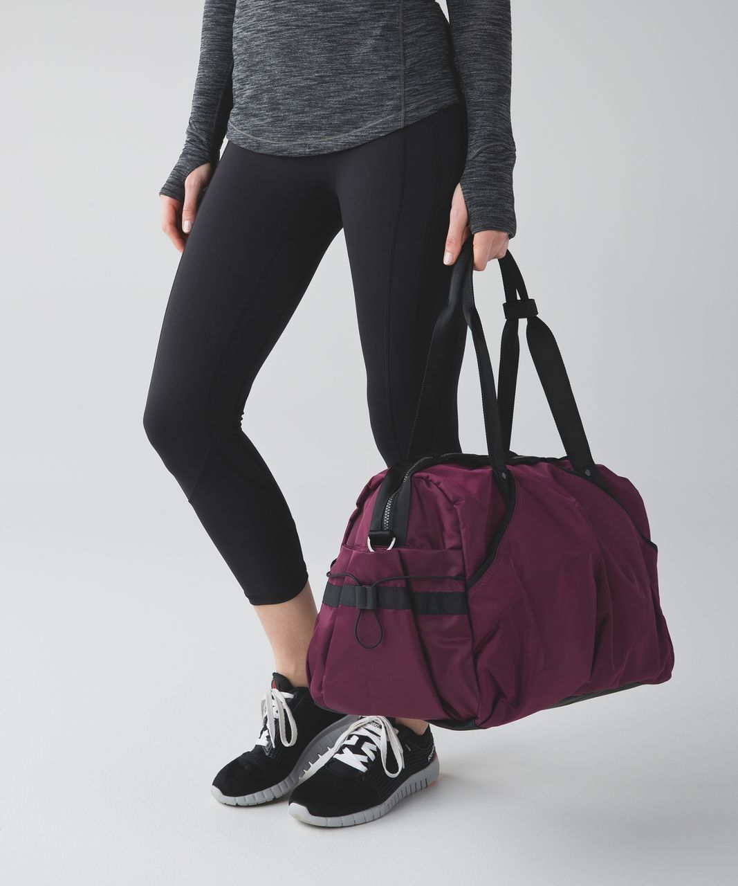 Lululemon Extra Mile Duffel - Red Grape / Black