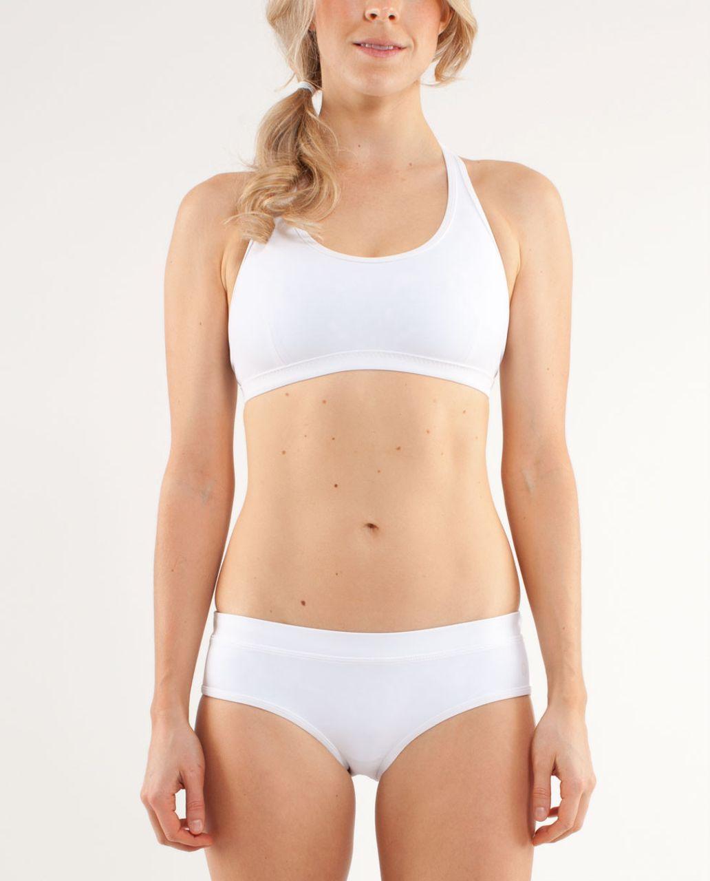 Lululemon Heatwave Swim Racer Top - White / Beachy Floral White Porcelaine