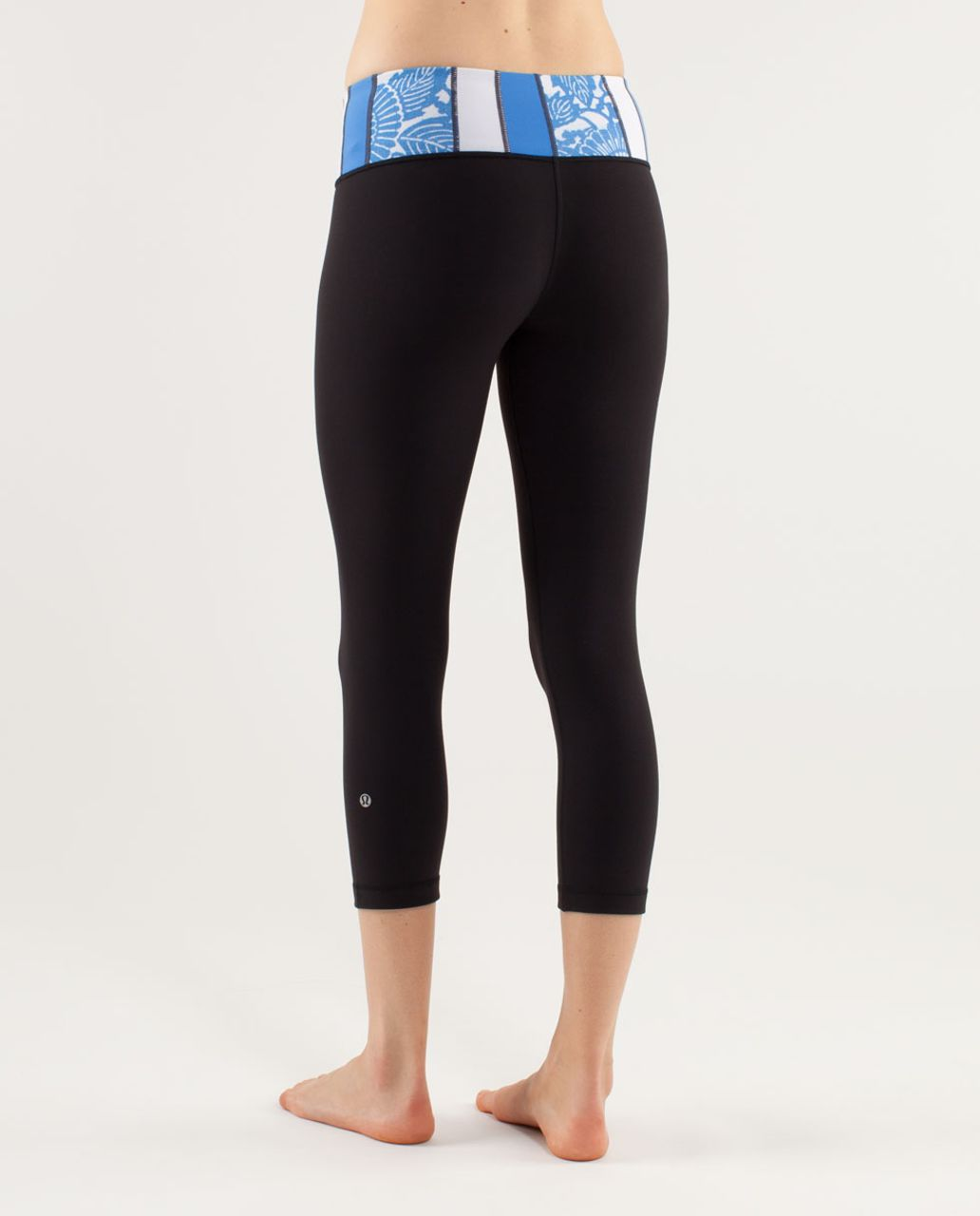 Lululemon Wunder Under Crop - Black /  Quilting Spring 30
