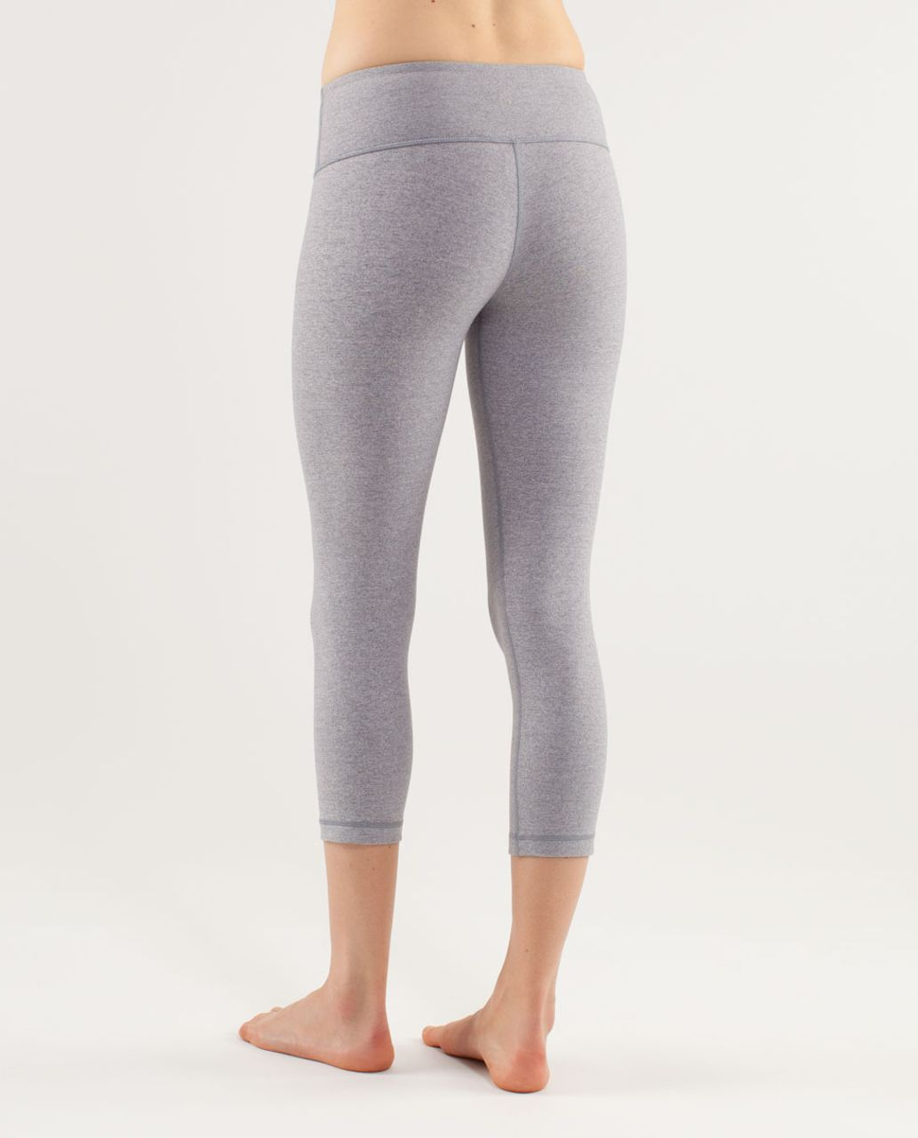Lululemon Wunder Under Crop - Heathered Fossil