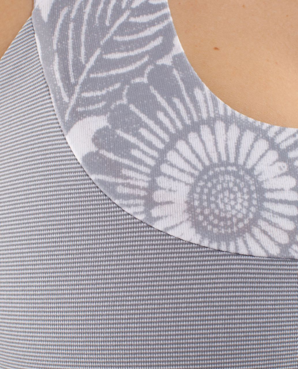 Lululemon Scoop Neck Tank - Wee Stripe White Fossil /  Beachy Floral White Fossil