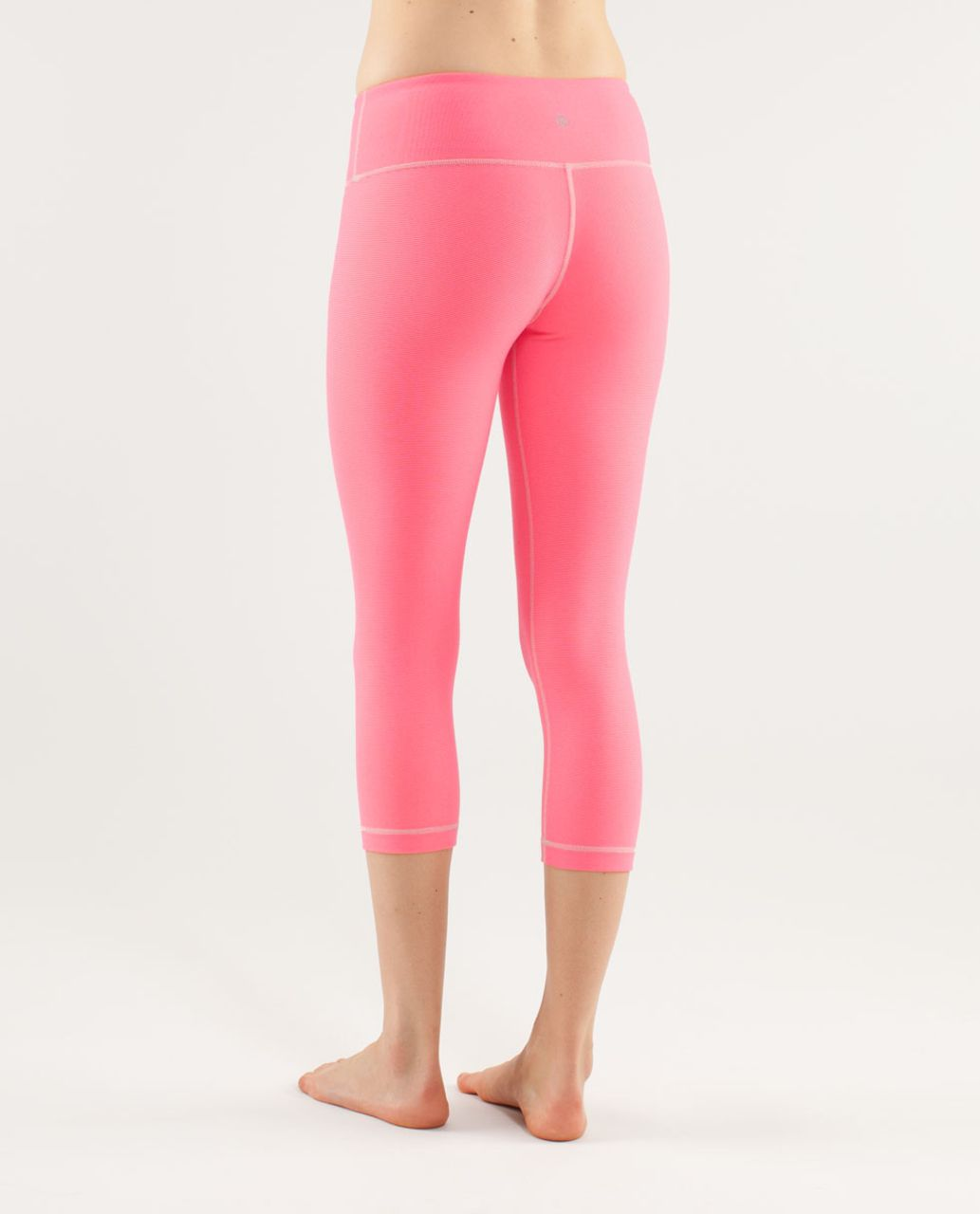 Lululemon Wunder Under Crop - Wee Stripe Dune Flash
