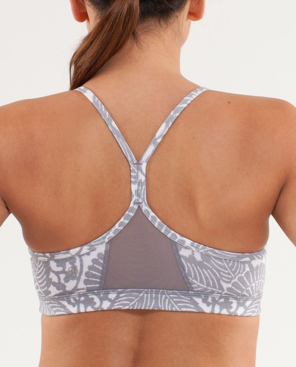Lululemon Flow Y Bra IV - Beachy Floral White Fossil