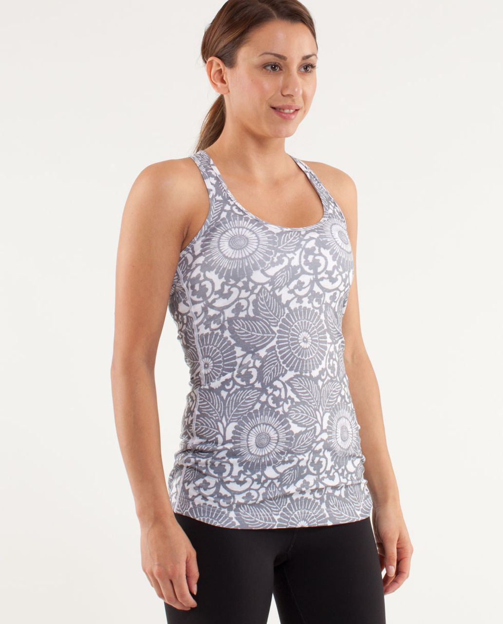 Lululemon Cool Racerback - Beachy Floral White Fossil