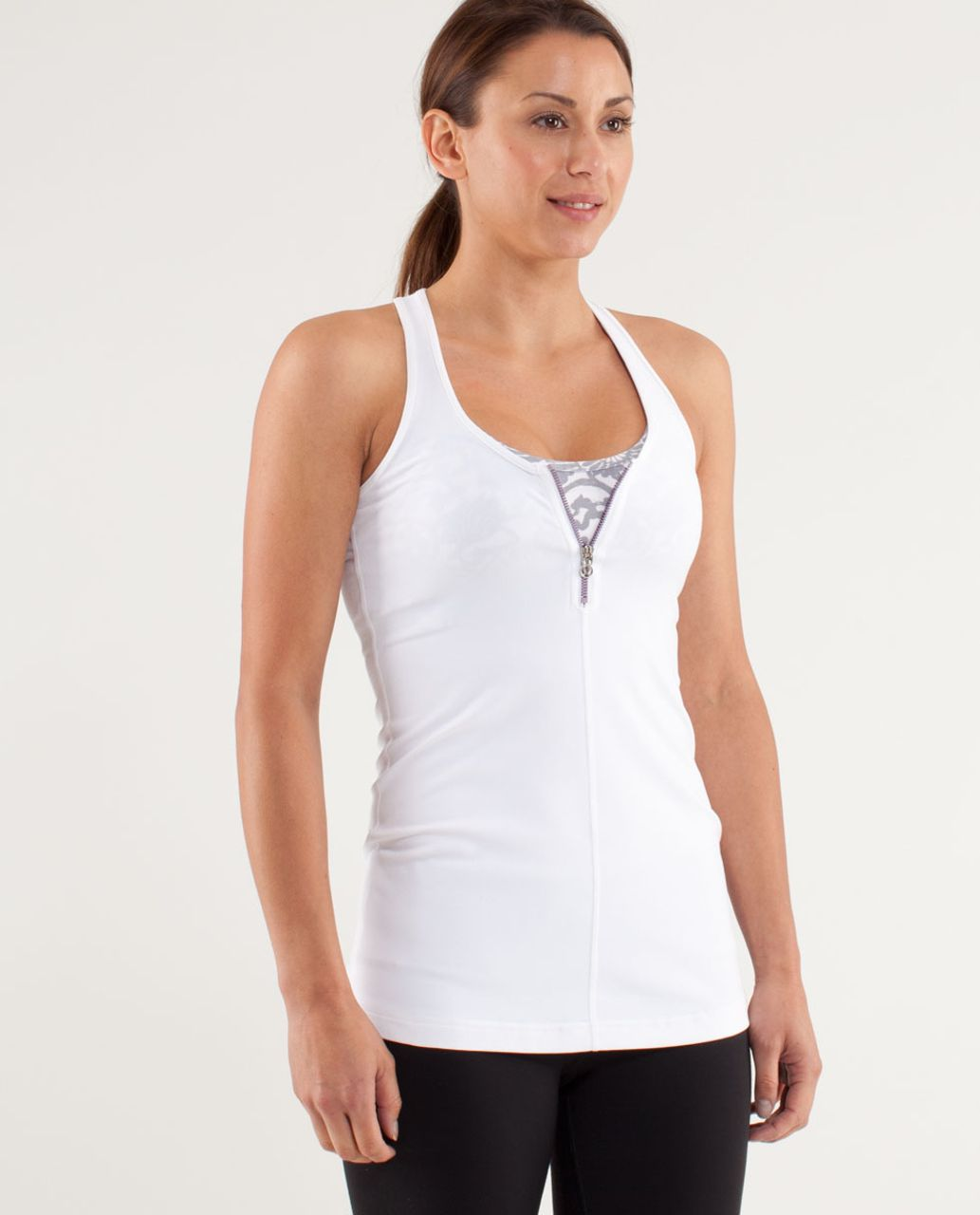 Lululemon Cool Racerback *Zipper - White