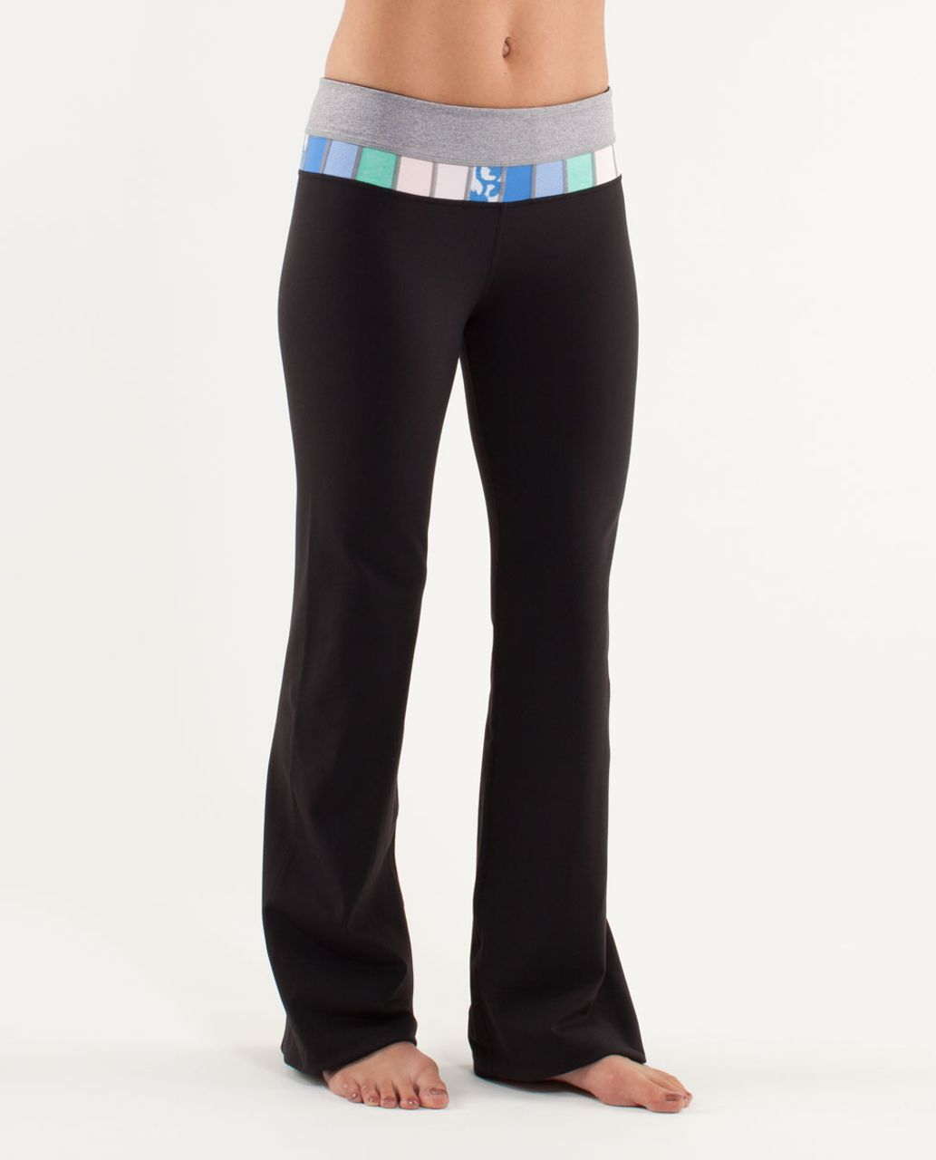 Lululemon Groove Pant (Tall) - Black /  Heathered Fossil /  Quilting Spring 21