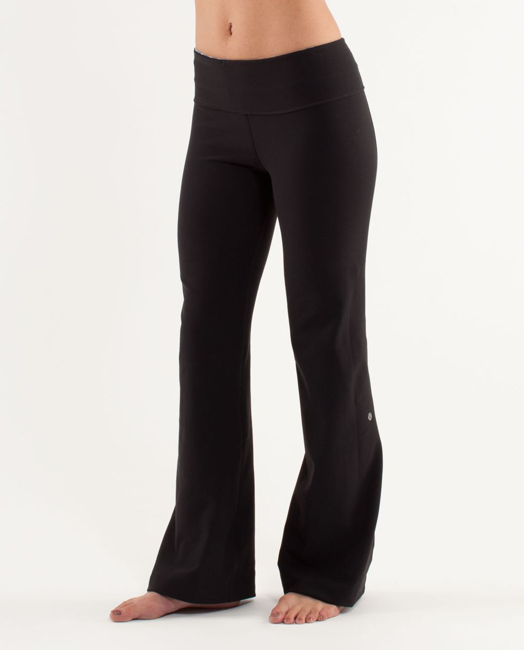 Lululemon Groove Pant (Tall) - Black /  Beachy Floral White Porcelaine /  Wee Stripe White Porcelaine