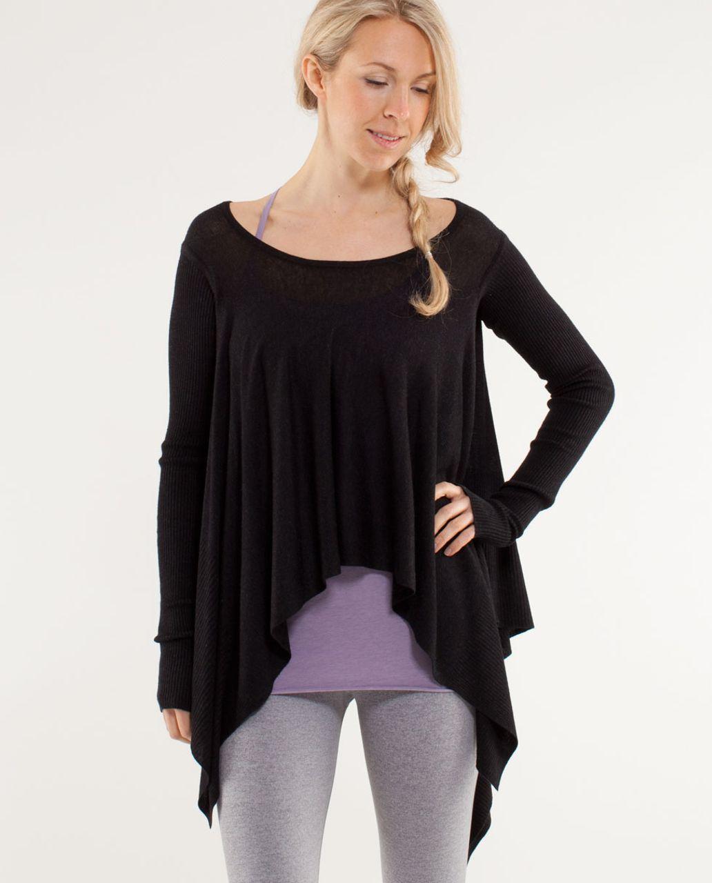 Lululemon Enlightened Pullover - Heathered Black