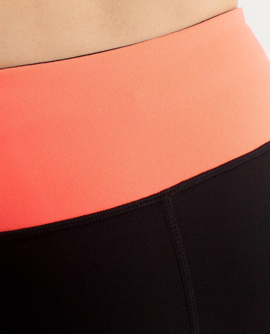 Lululemon Boogie Short - Black / Electric Orange