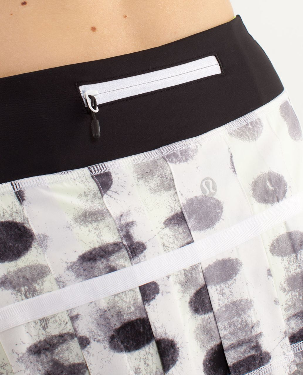 Lululemon Run:  Pace Setter Skirt (Regular) - Seaside Dot White / Black / Black / Ray