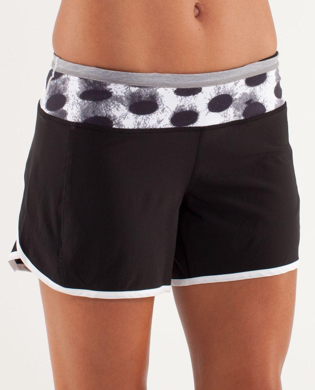 Lululemon Turbo Run Short - Black / White / Seaside Dot White / Black