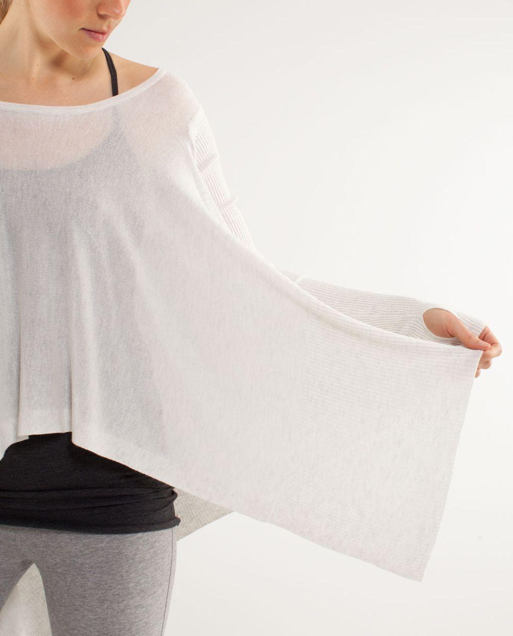 Lululemon Enlightened Pullover - Heathered White