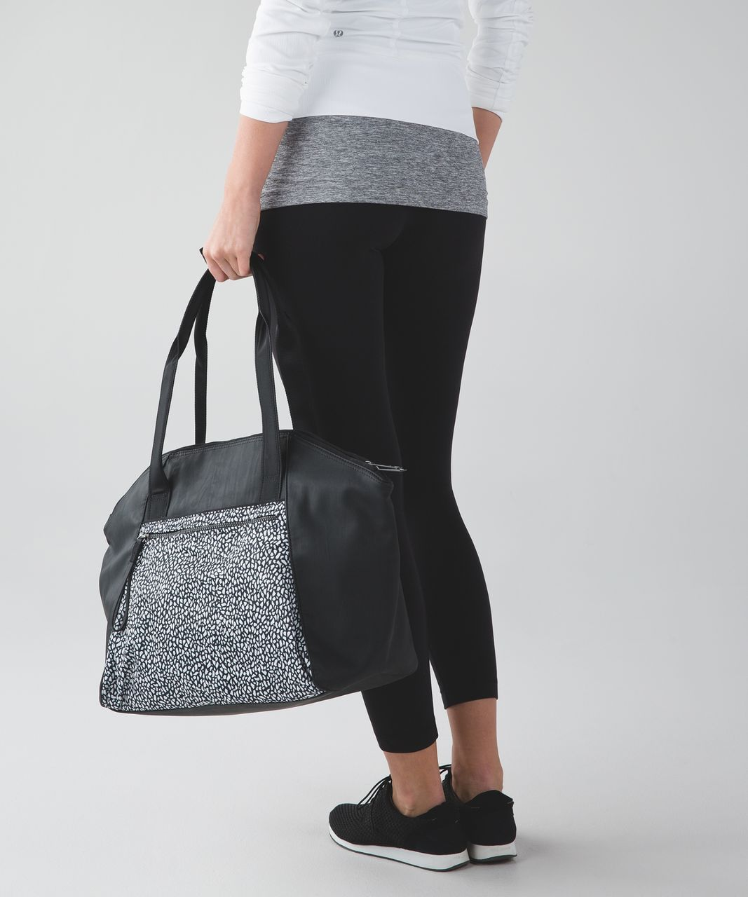 Lululemon Free To Be Bag - Miss Mosaic Black / Black