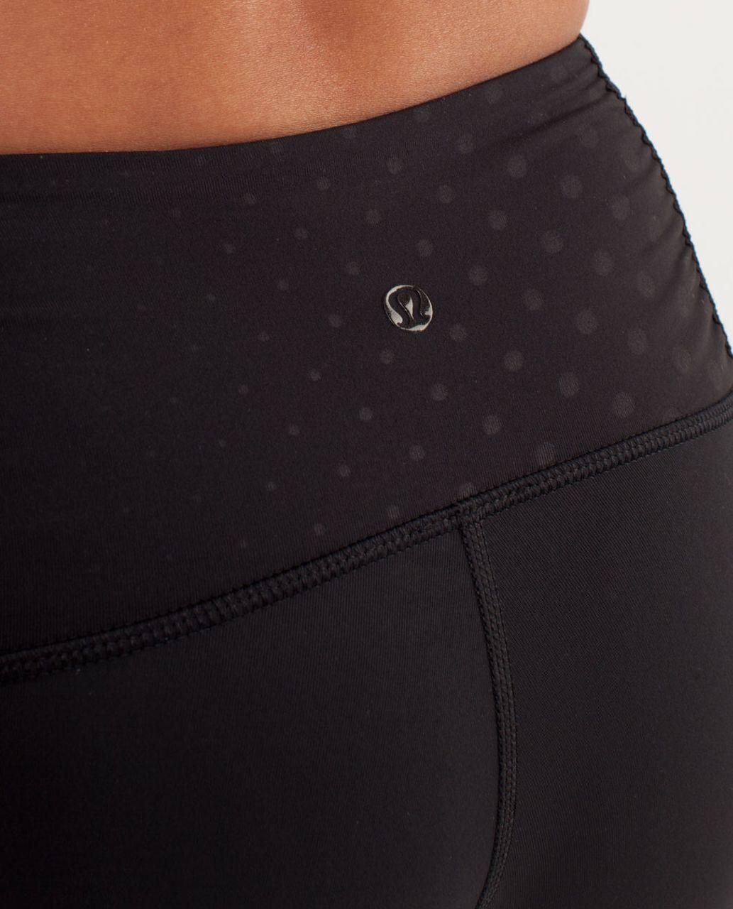 Lululemon Some Like It Hot Crop - Black / Faded Dot Embossed Black