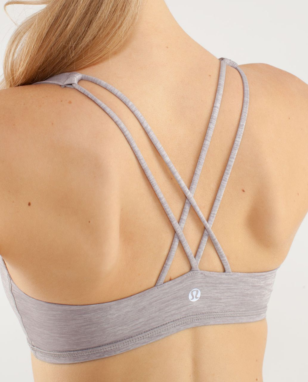 Lululemon Free To Be Bra - Metallic Silver