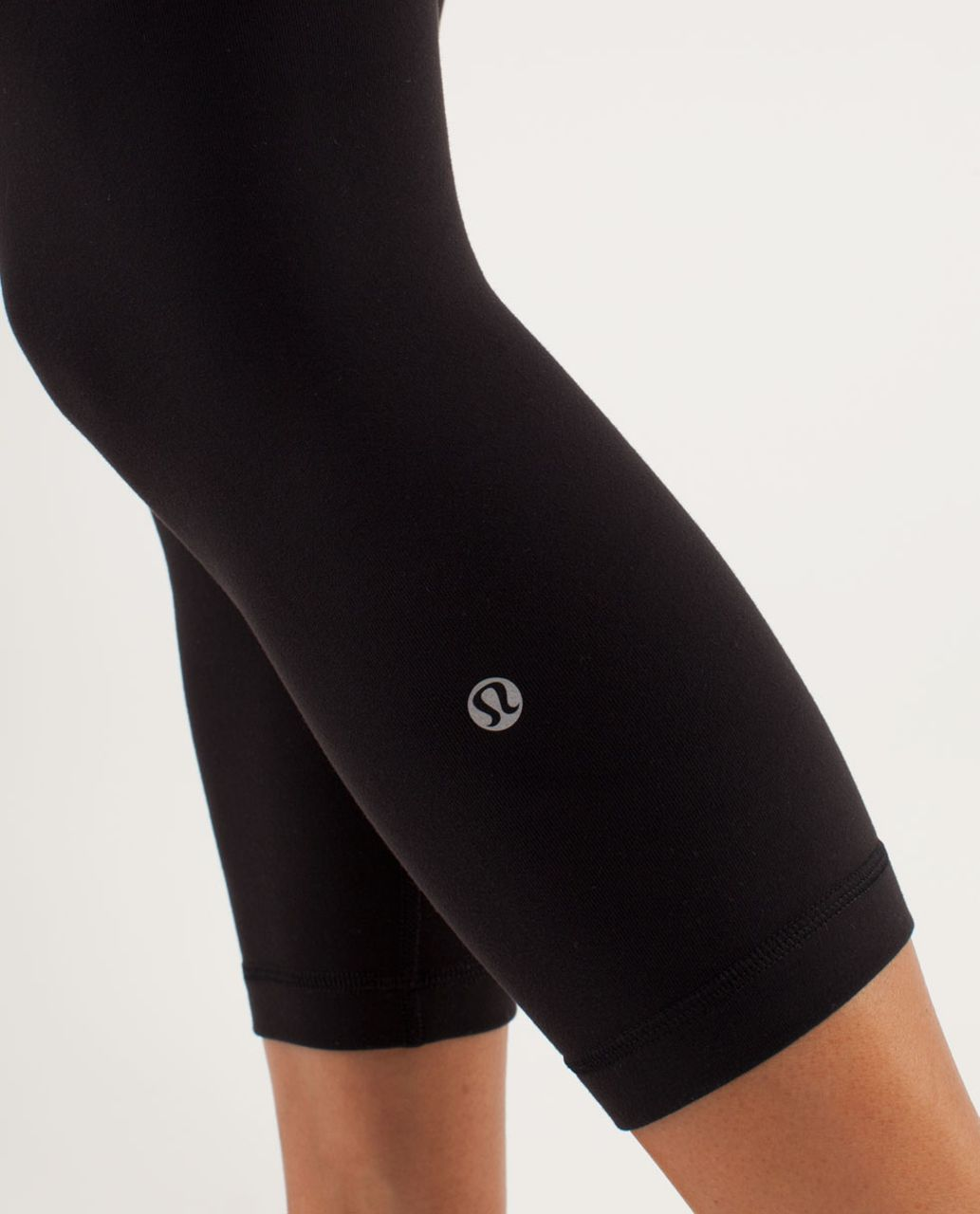 Lululemon Wunder Under Crop *Reversible - Black / Transition Fall 12 Quilt 31 / Flash Light