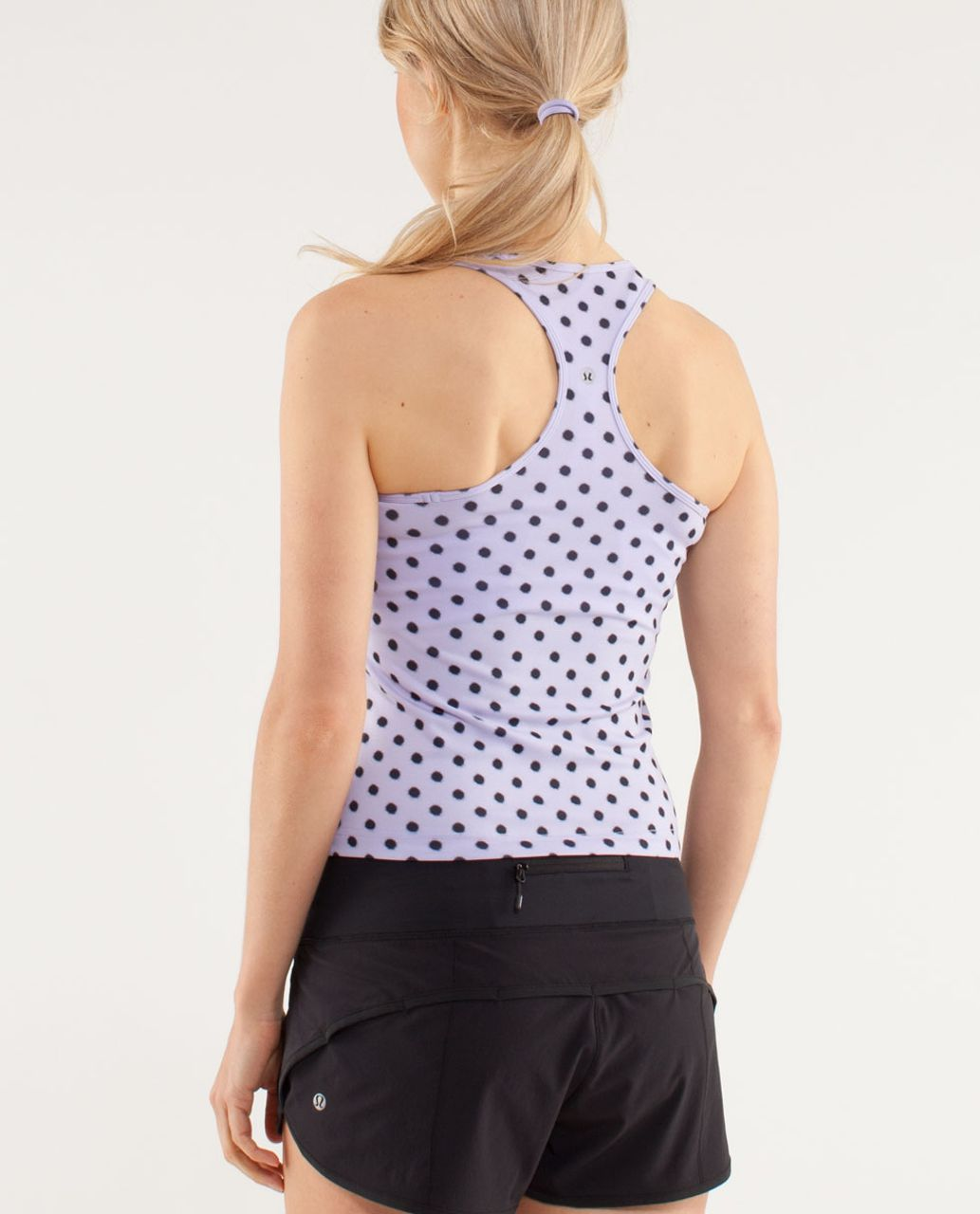 Lululemon Cool Racerback *Racing Length - High Noon Dot Lilac / Black