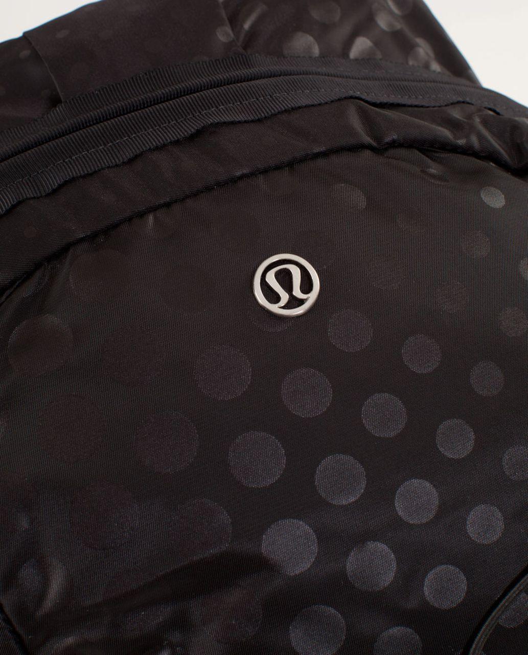 Lululemon Run From Work Backpack - Faded Dot Embossed Black