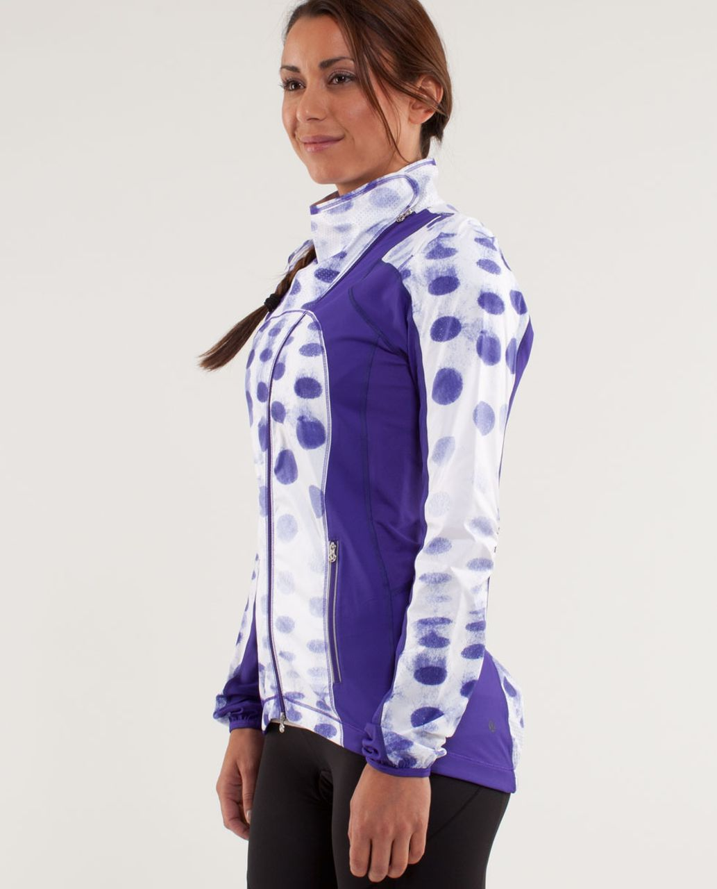 Lululemon Presta Packable Shirket - Seaside Dot White / Bruised Berry