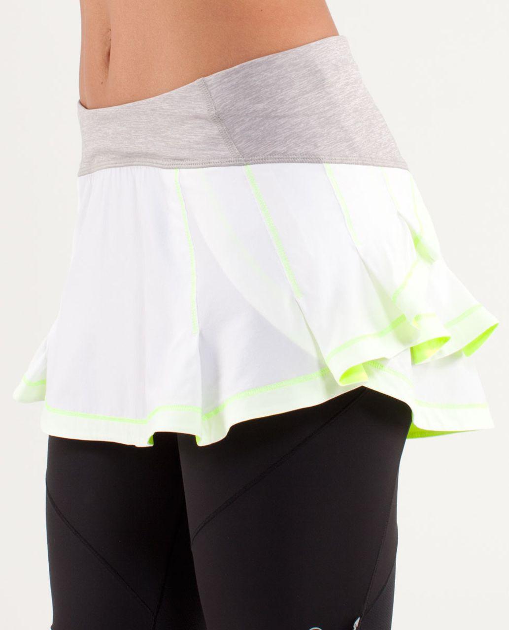 Lululemon Presta Skirt - White / Metallic Silver / Ray