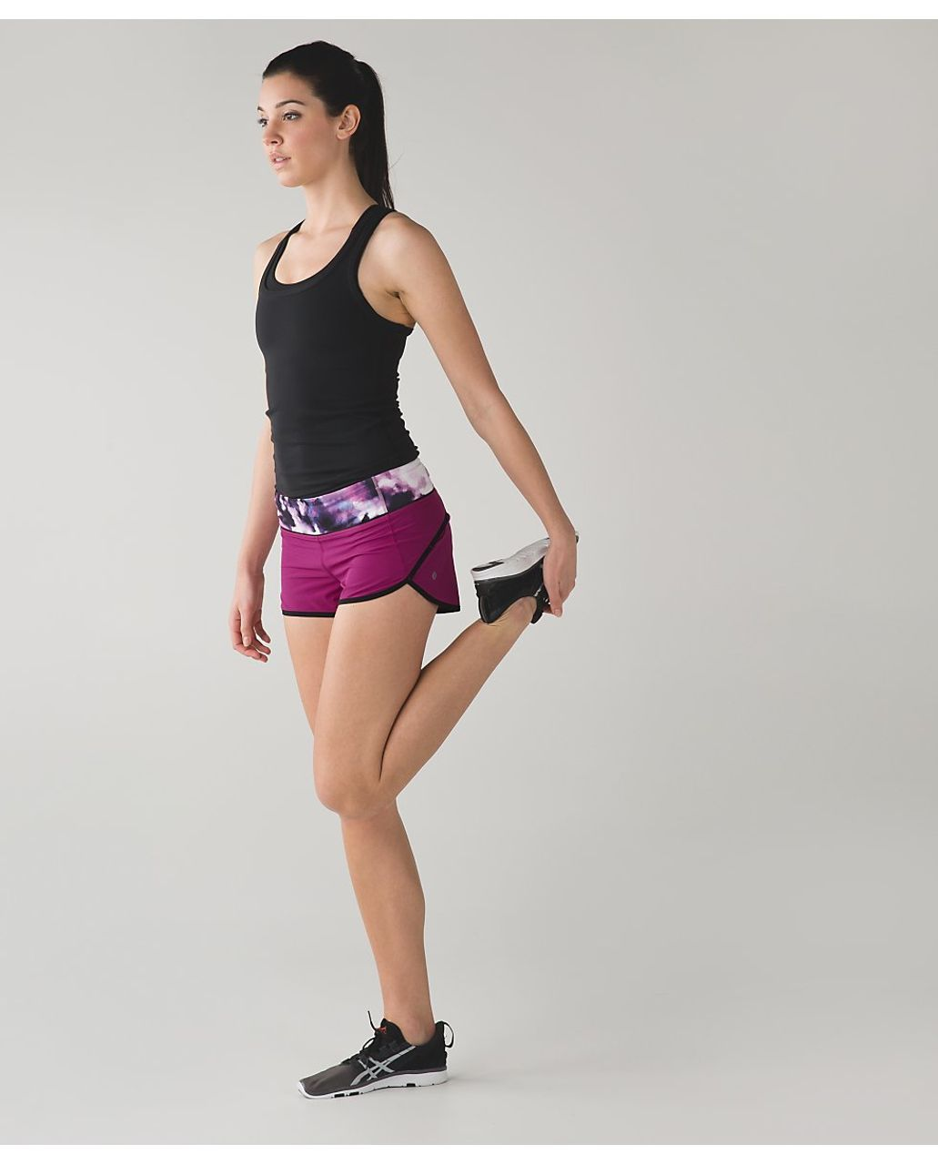 Lululemon Speed Short - Raspberry / Blooming Pixie Multi / Black