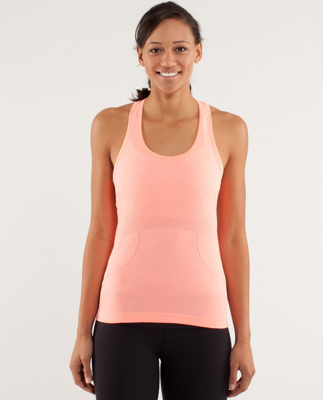 0c9e9be002c8b Lululemon Run  Swiftly Tech Racerback - Pop Orange - lulu fanatics