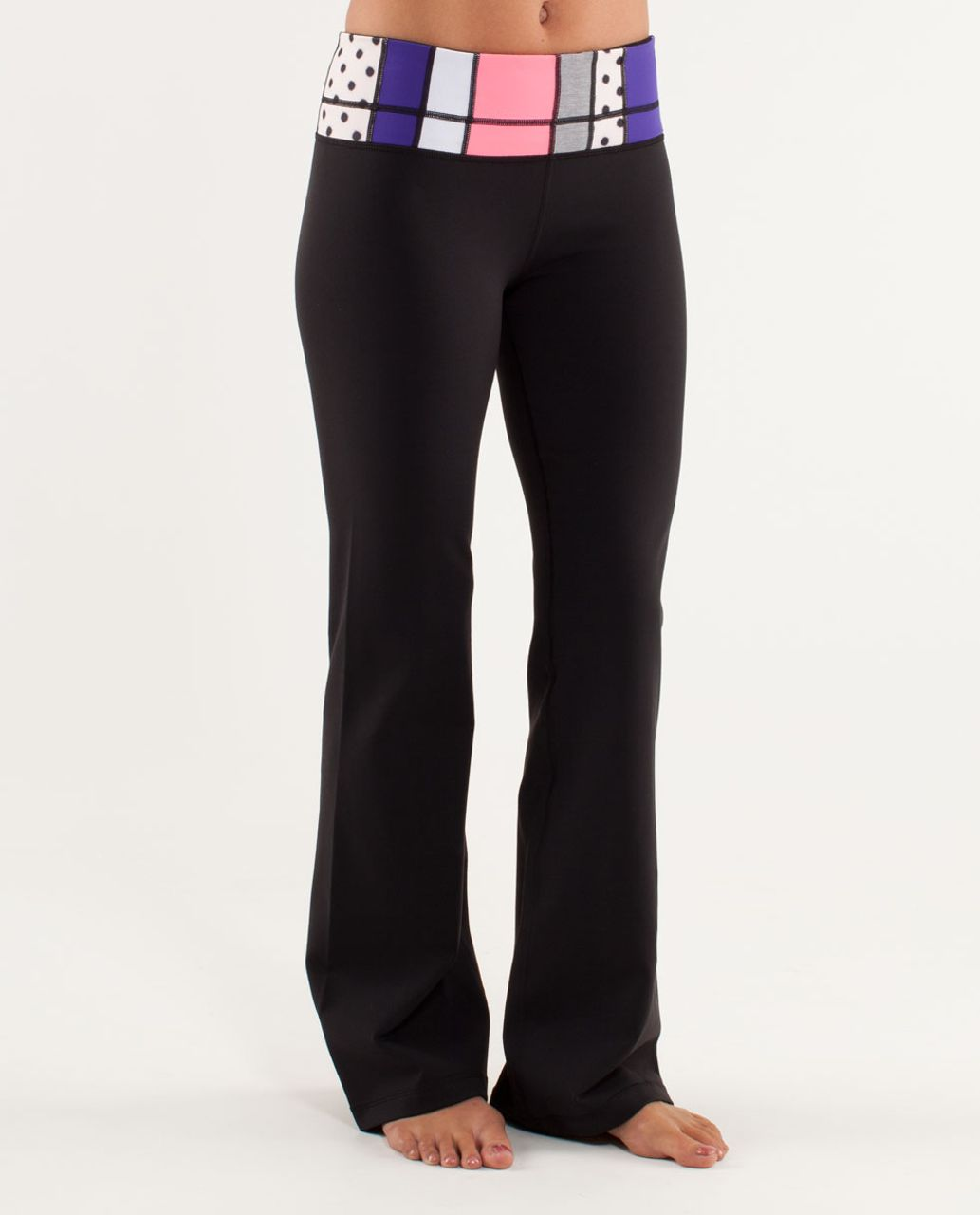 Lululemon Groove Pant (Tall) - Black / Transition Fall 12 Quilt 1
