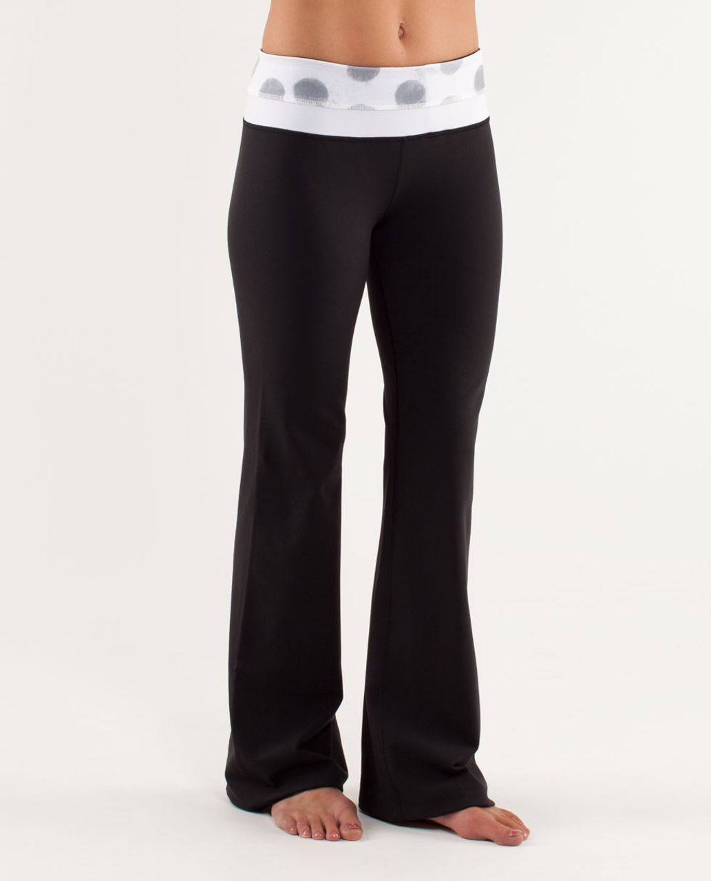 Lululemon Groove Pant (Regular) - Black / Seaside Dot White / Fossil / White