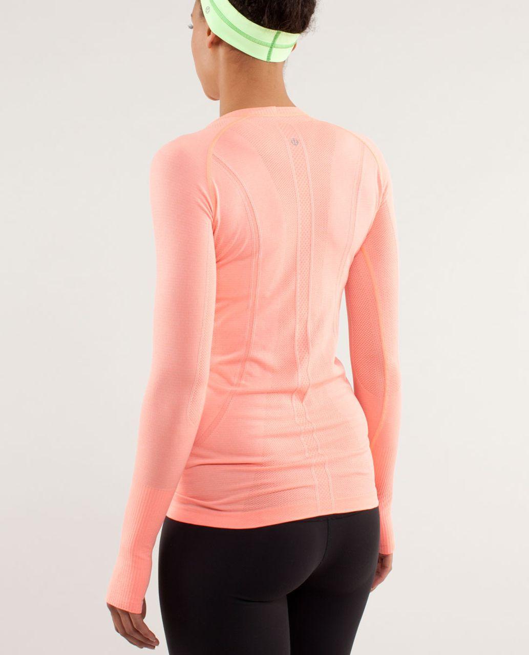 Lululemon Run:  Swiftly Tech Long Sleeve - Pop Orange