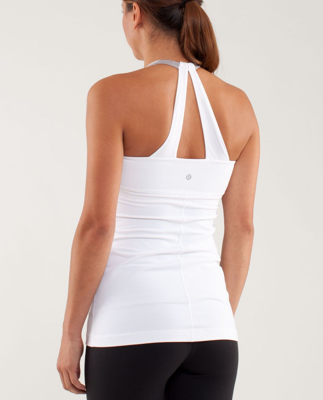 Lululemon Scoop Me Up Tank - White / Metallic Silver