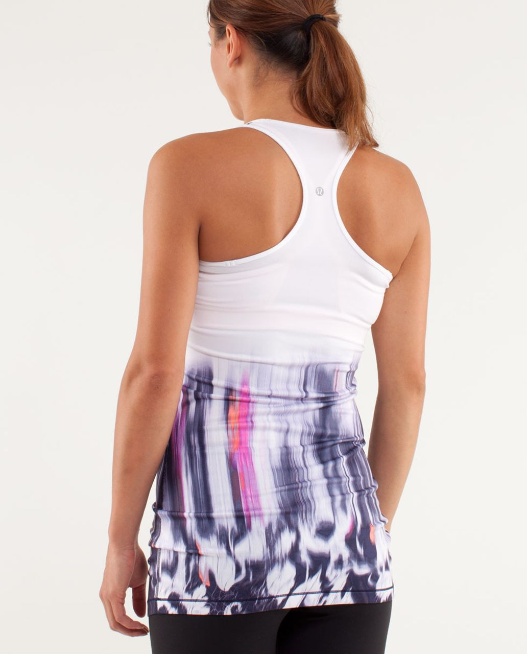 Lululemon Cool Racerback *Extra Long - Engineered Mirage Deep Indigo / White