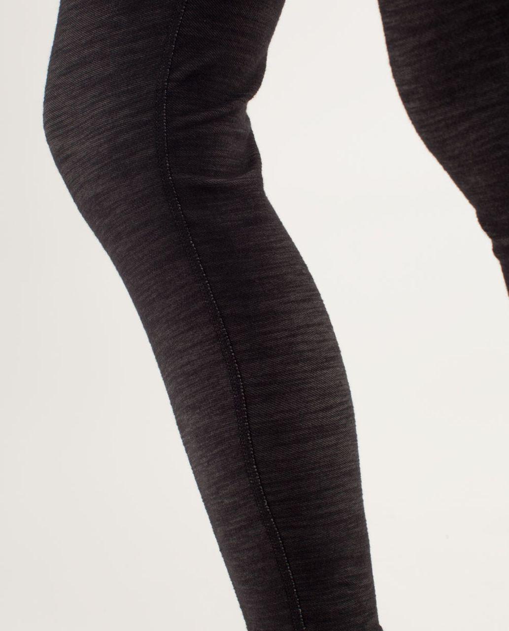 Lululemon Wunder Under Pant *Denim - Black Slub Denim / Lilac