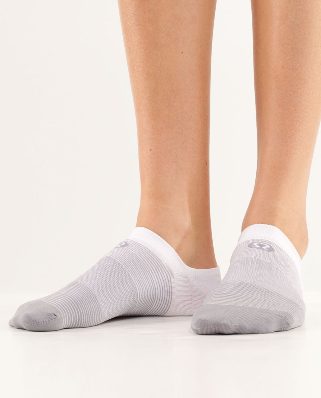 Lululemon Women's Featherweight Sock - Fossil White Gradient