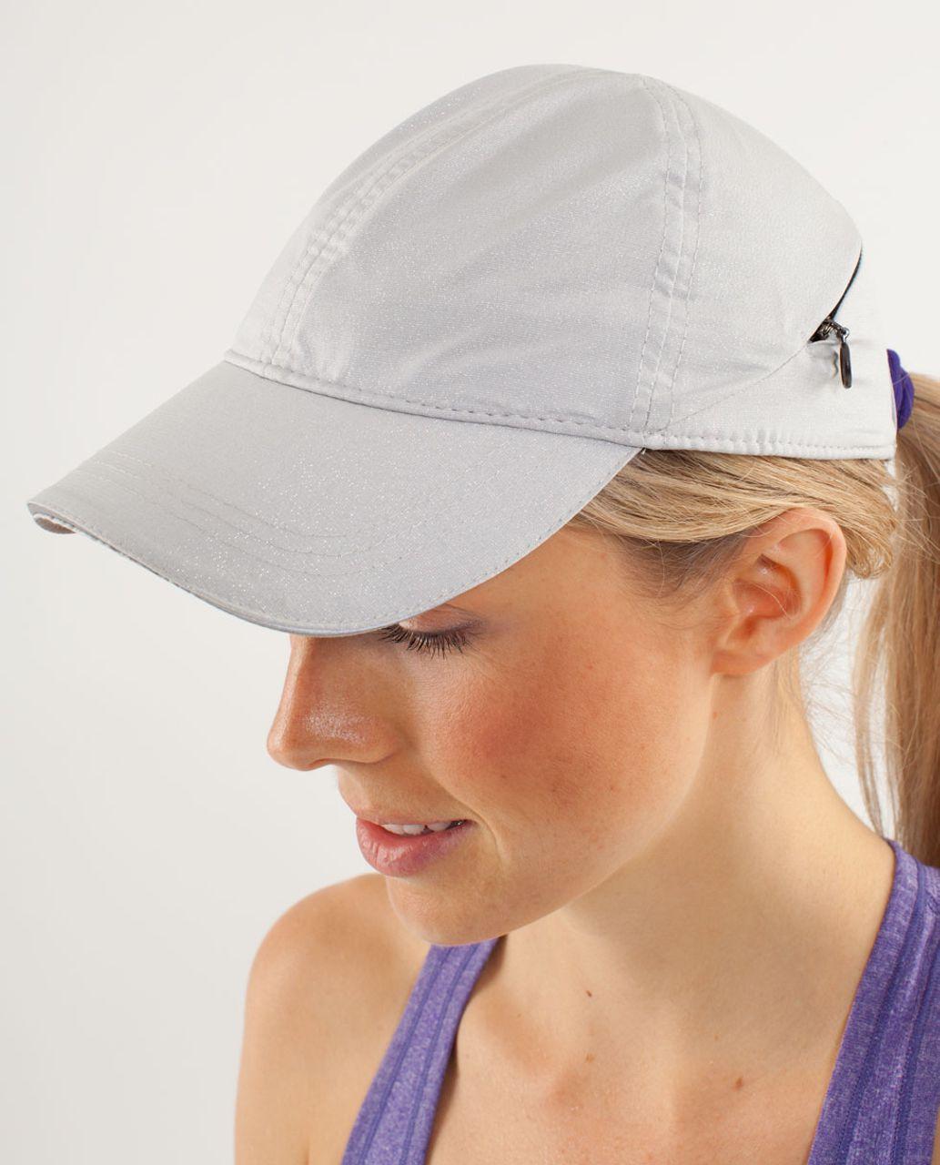 Lululemon Go The Distance Run Hat - Silver - lulu fanatics f9e8ec6de4c2
