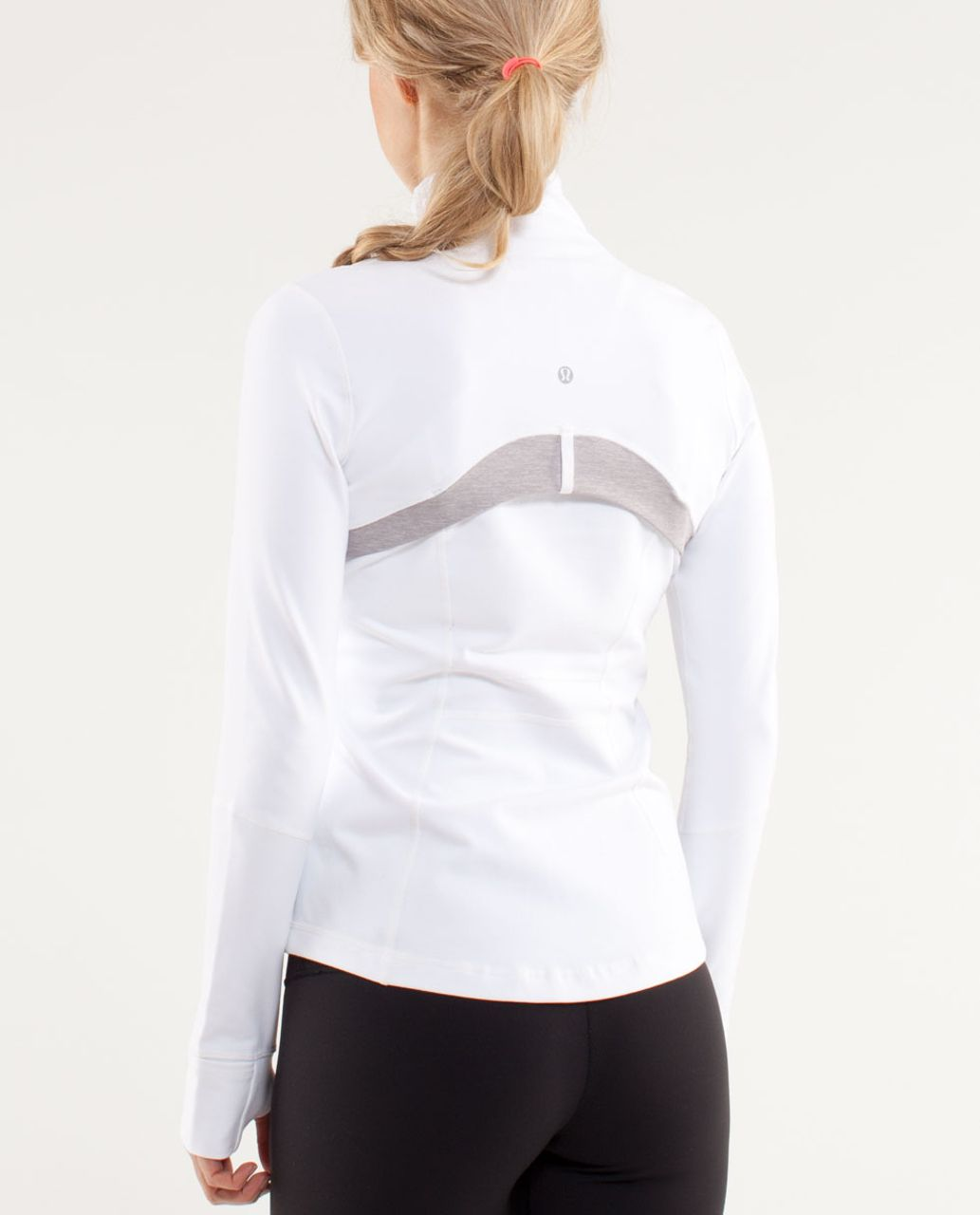 Lululemon Define Jacket - White / Metallic Silver