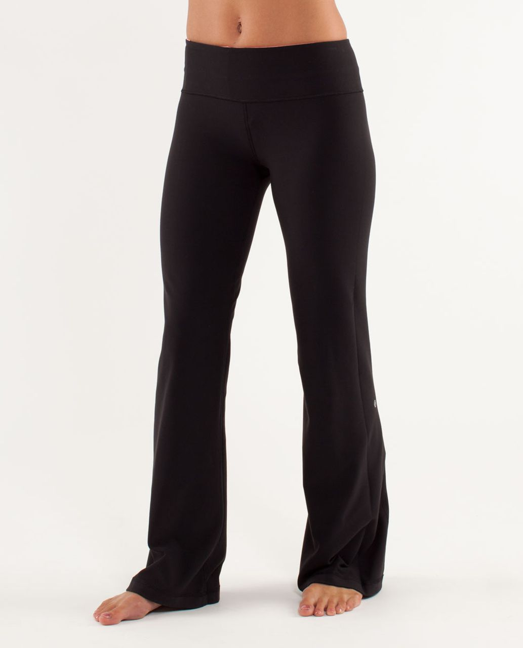 Lululemon Groove Pant (Tall) - Black / Heathered Pop Orange / Pow Pink