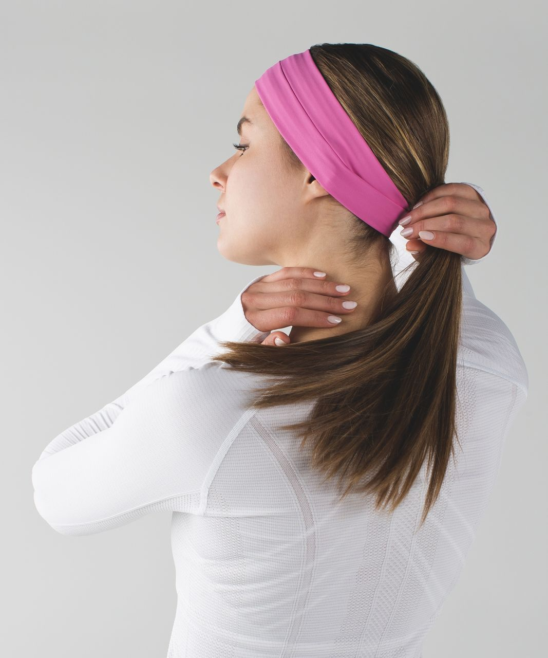 Lululemon Sweat It Out Headband - Pink Paradise
