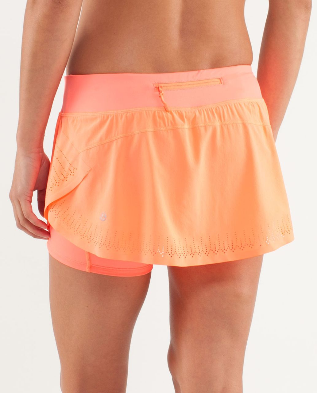 Lululemon Run:  Light As Air Skirt - Pop Orange
