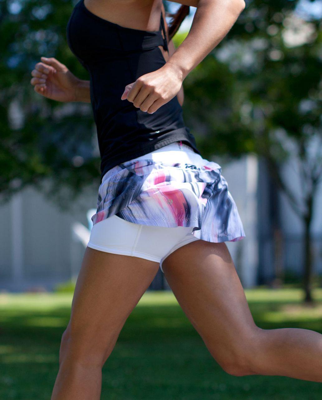 Lululemon Run:  Light As Air Skirt - Mirage Deep Indigo / White