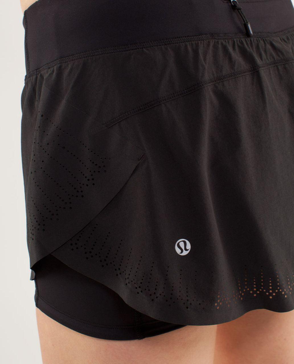 Lululemon Run:  Light As Air Skirt - Black