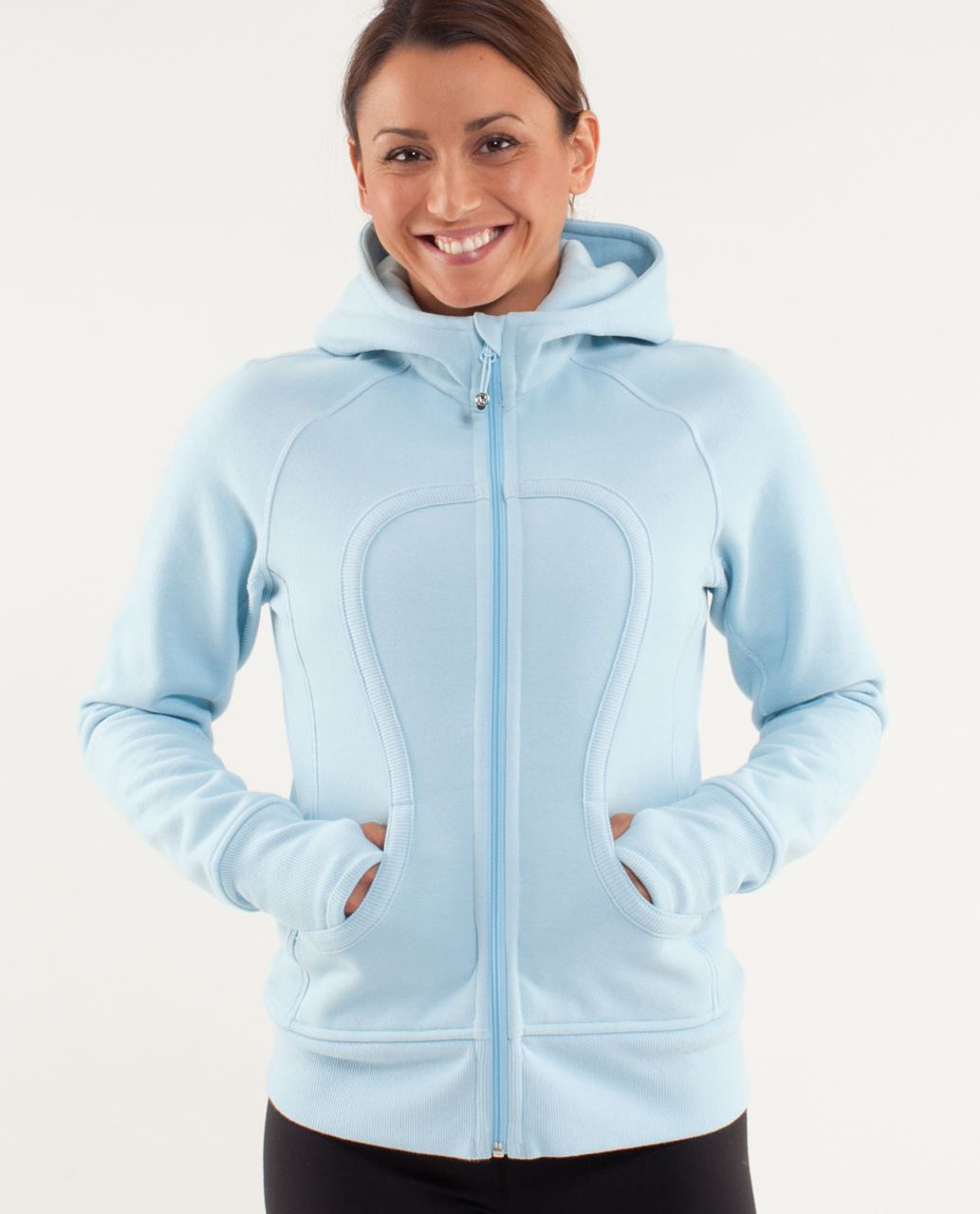 Lululemon Scuba Hoodie - Caspian Blue / Neutral Blush