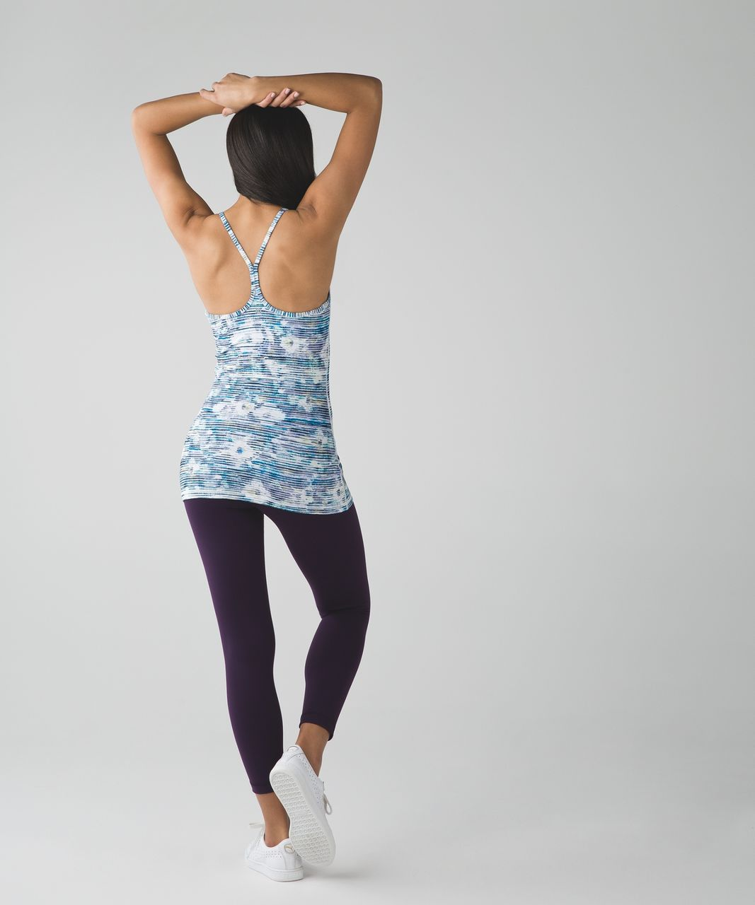 Lululemon Power Y Tank - Blurry Belle Multi / White