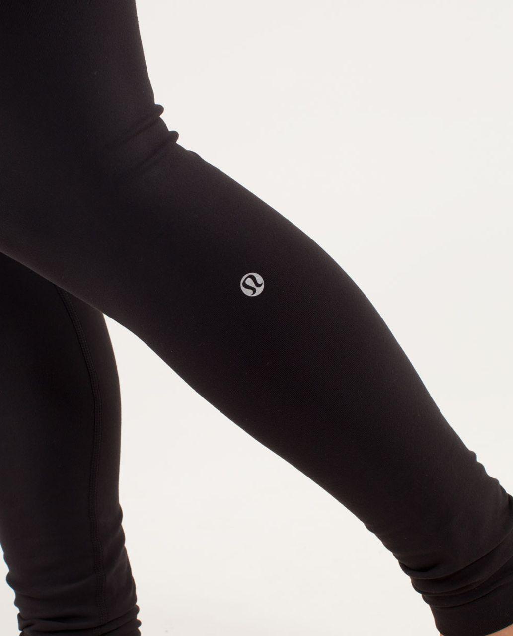 Lululemon Wunder Under Pant *Reversible - Black / Transition Fall 12 Quilt 30