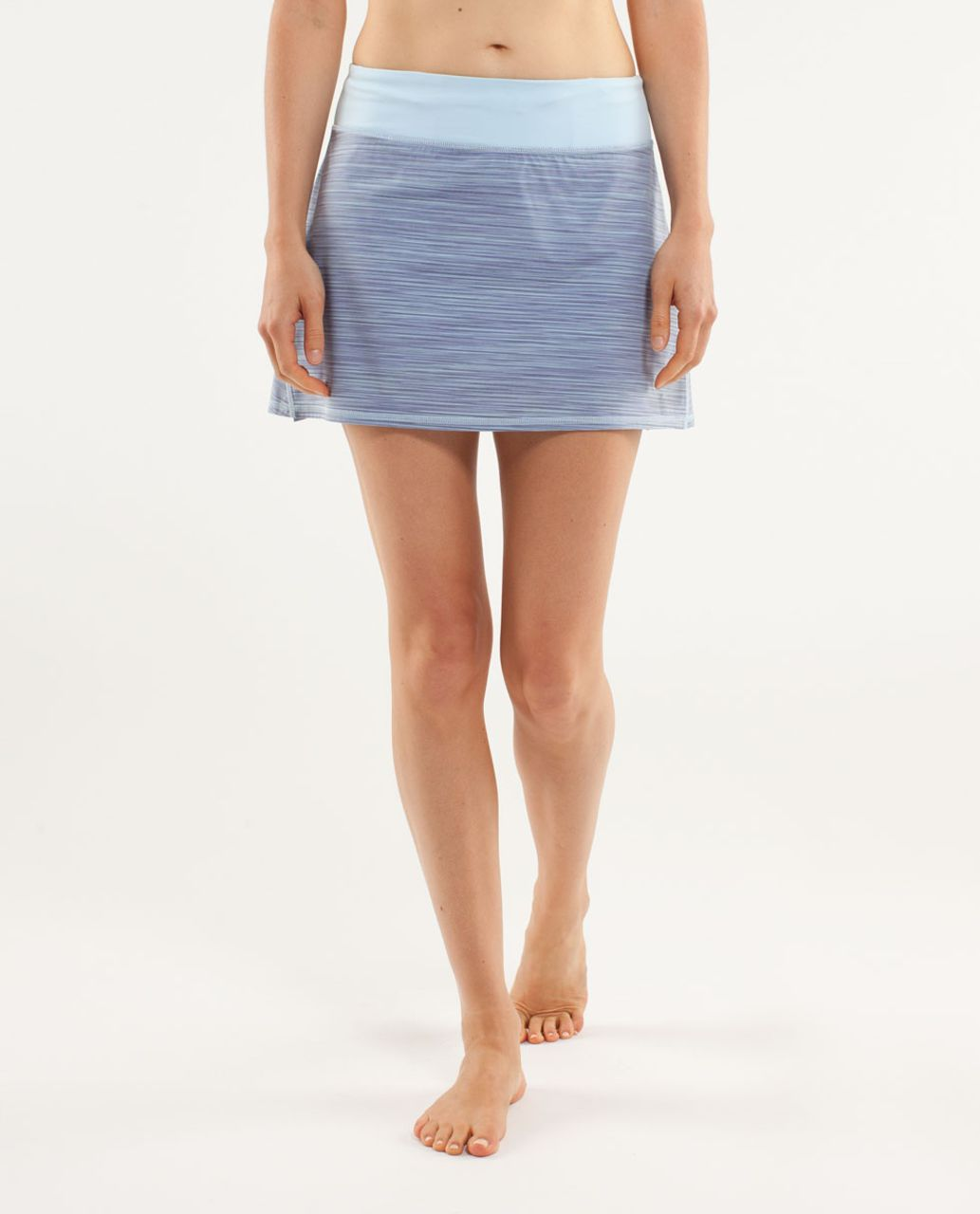 Lululemon Run:  Pace Setter Skirt (Regular) - Twisted Stripe Caspian Blue / Caspian Blue